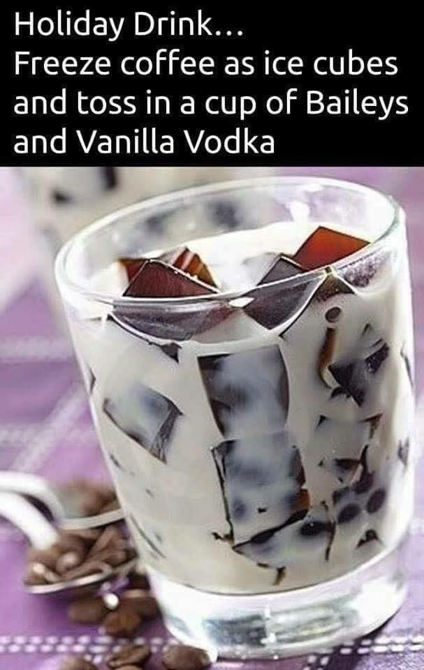 coffee, vodka, baileys