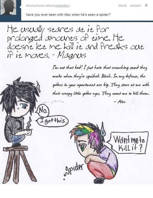 Malec being adorable