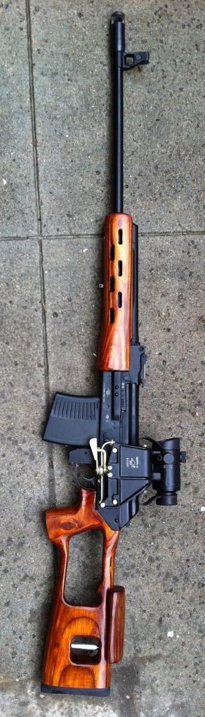 VEPR rifle 7.62. I'm not the biggest fan of kalishnakov style rifles but this one is pretty nice!: