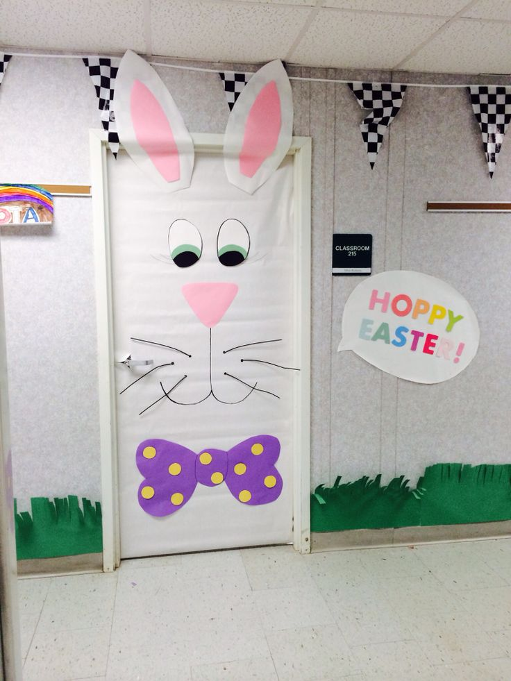 Porta da sala de aula para Páscoa