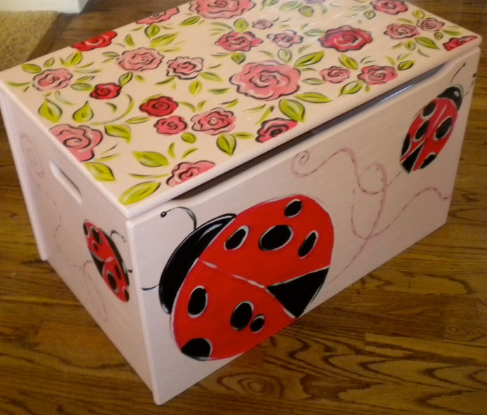 Pink Fairy Wishes Bench Seat With Storage Toy Box Seating: 13 Best Images About Toy Box Paint Ideas On Pinterest