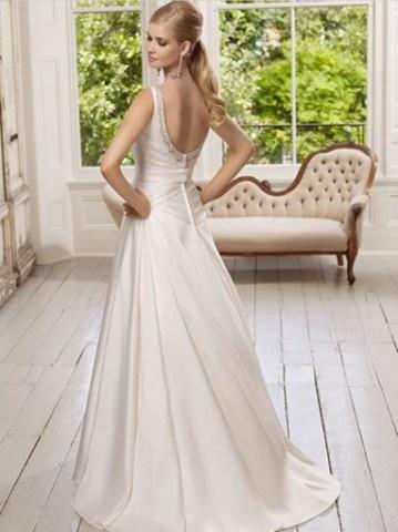 backless wedding dress. simple