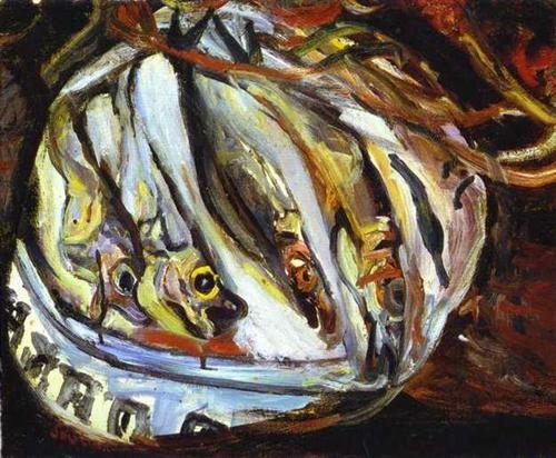 Still Life with Fish - Chaim Soutine