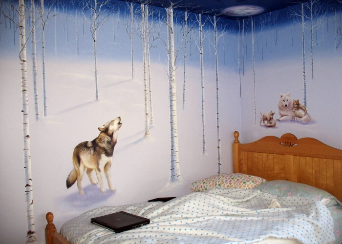 Wolf Bedroom Decorating Ideas Design