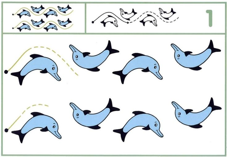 schrijfpatroon dolfijn, free printable