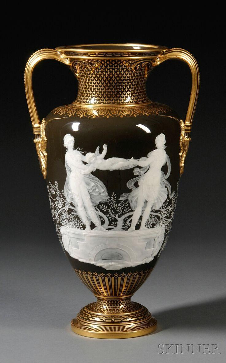 1000 images about chalkware on pinterest carnival prizes vintage - Mintons Marc Louis Solon Decorated Pate Sur Pate Vase
