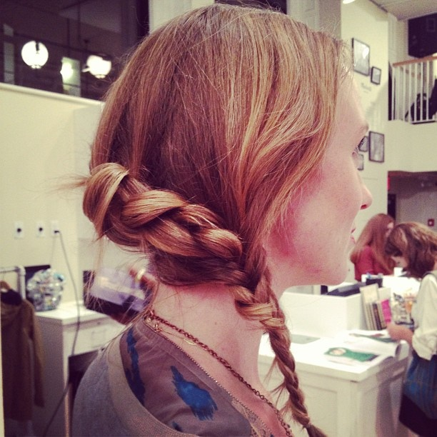 Love this fancy Katniss style from the braid bar at the Madewell + Birchbox #FNO event. #nyfw: Katniss Esqu Style, Katniss Style