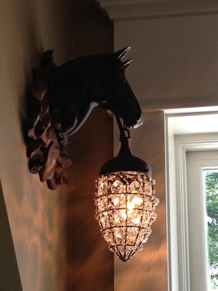 Horse Holding Lantern Wall Fixture Rustic Lanterns