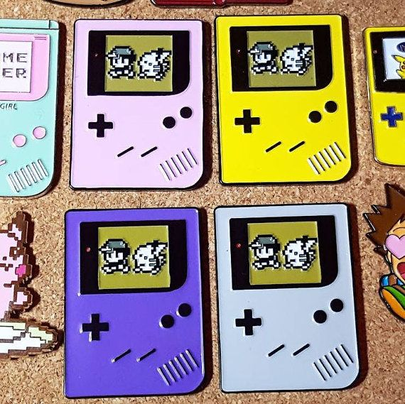 Gameboy Pokemon Yellow Soft Enamel Pin Pikachu Ash Pokemon Go Gamer Video Games Instinct Valor Mystic Lapel Pin Hat Pin Cute Retro