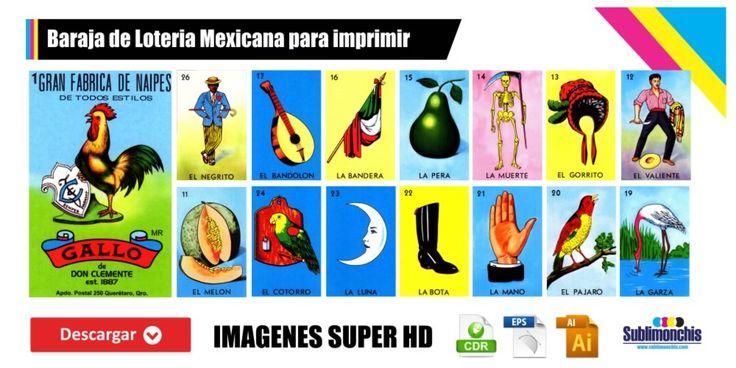 Baraja de Loteria Mexicana para imprimir en 2020 | Baraja ...