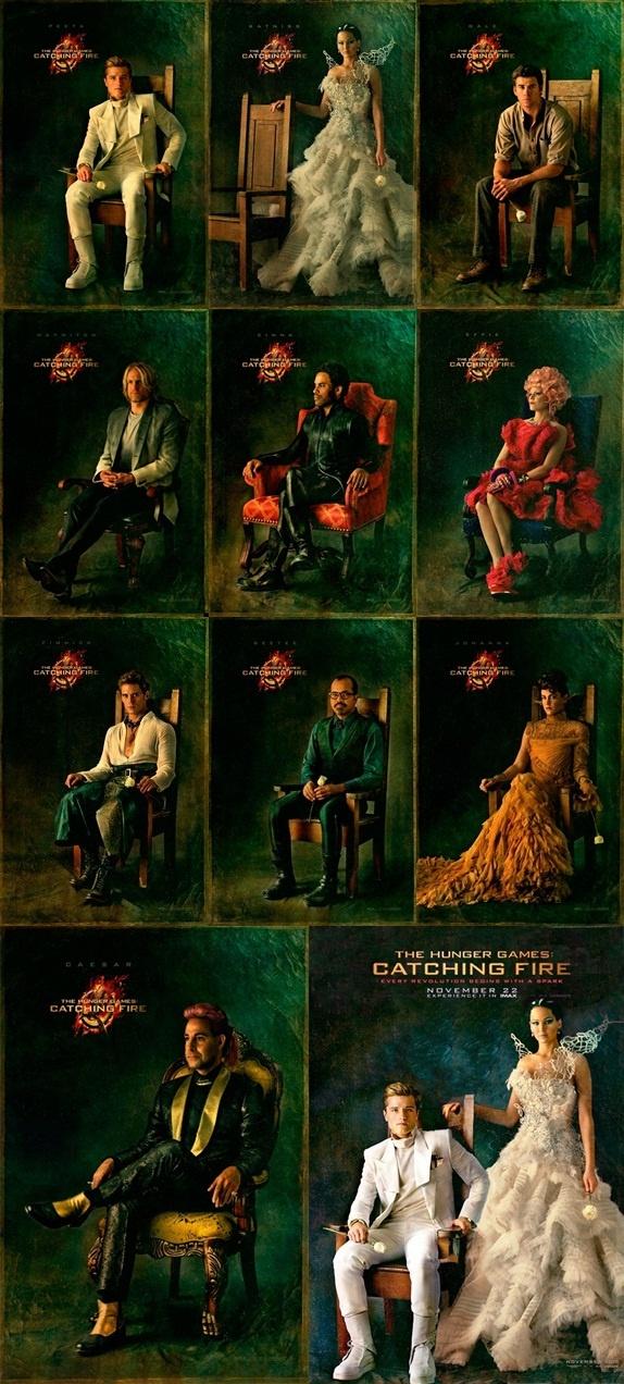 Pósters de 'Los Juegos del Hambre: En llamas'