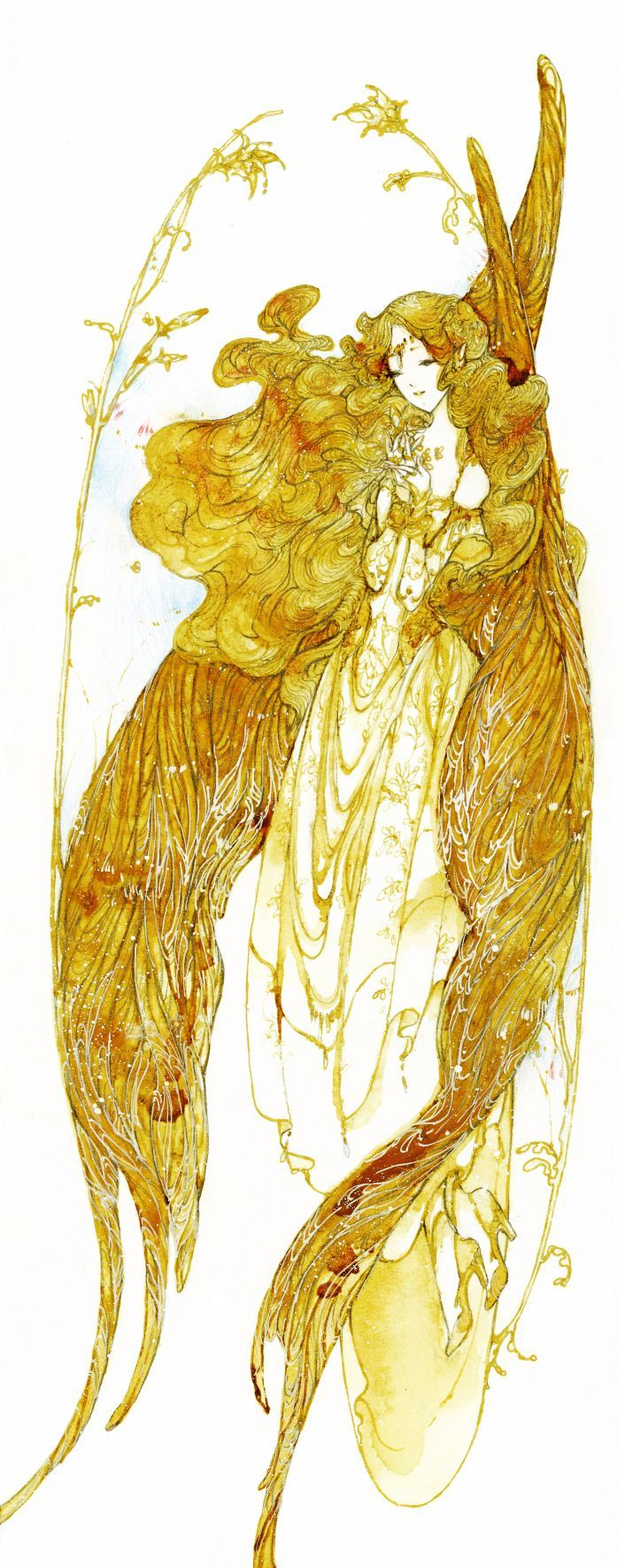 Angel with gold wings by ~katarinea on deviantART