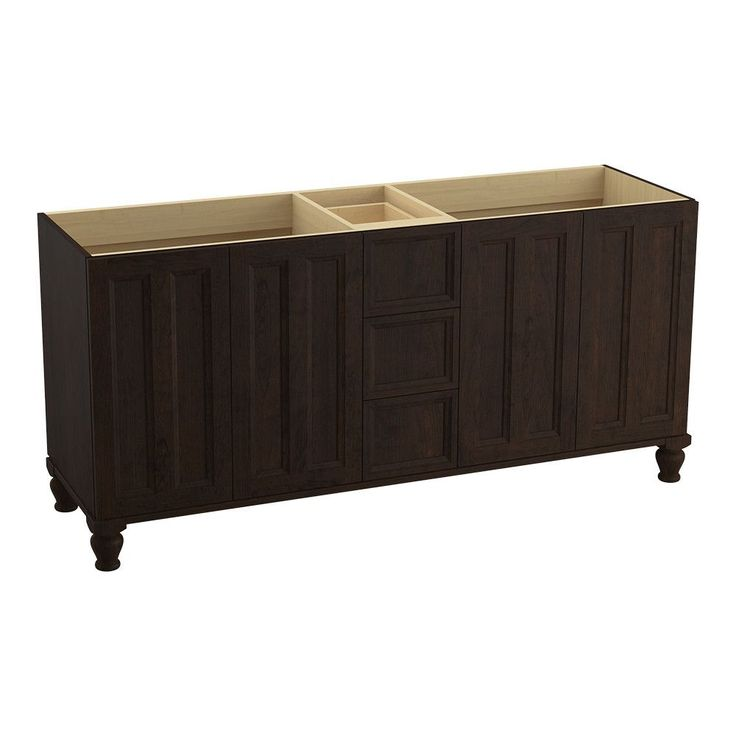 "Damask™ 72"" Vanity with Furniture Legs, 4 Doors and 3 Drawers"