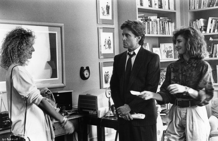 Still of Michael Douglas, Anne Archer and Glenn Close in Fatal Attraction