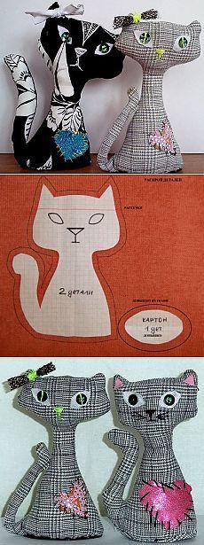 Мягкая игрушка кот своими руками