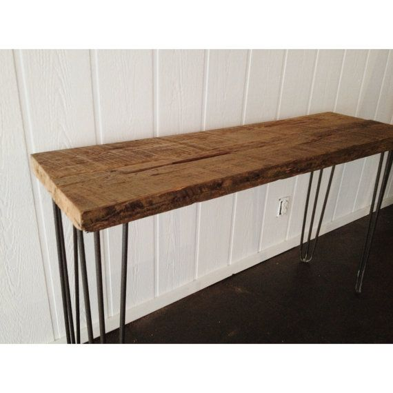 FREE SHIPPING Reclaimed Wood Console Table with by PannellSupply