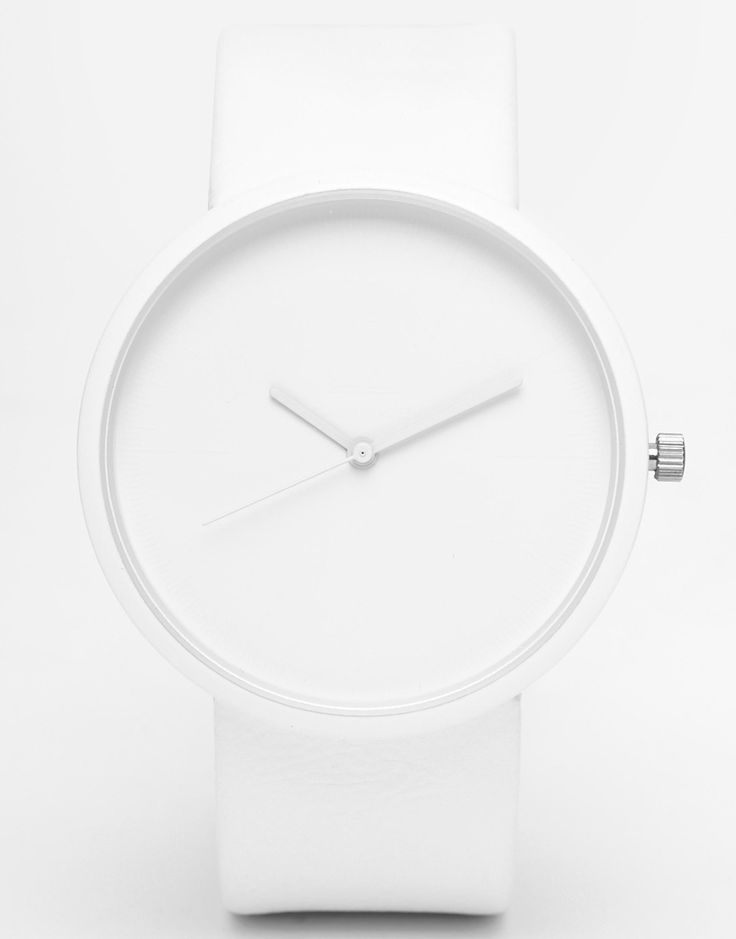 Image 1 of ASOS Monochrome Watch in White
