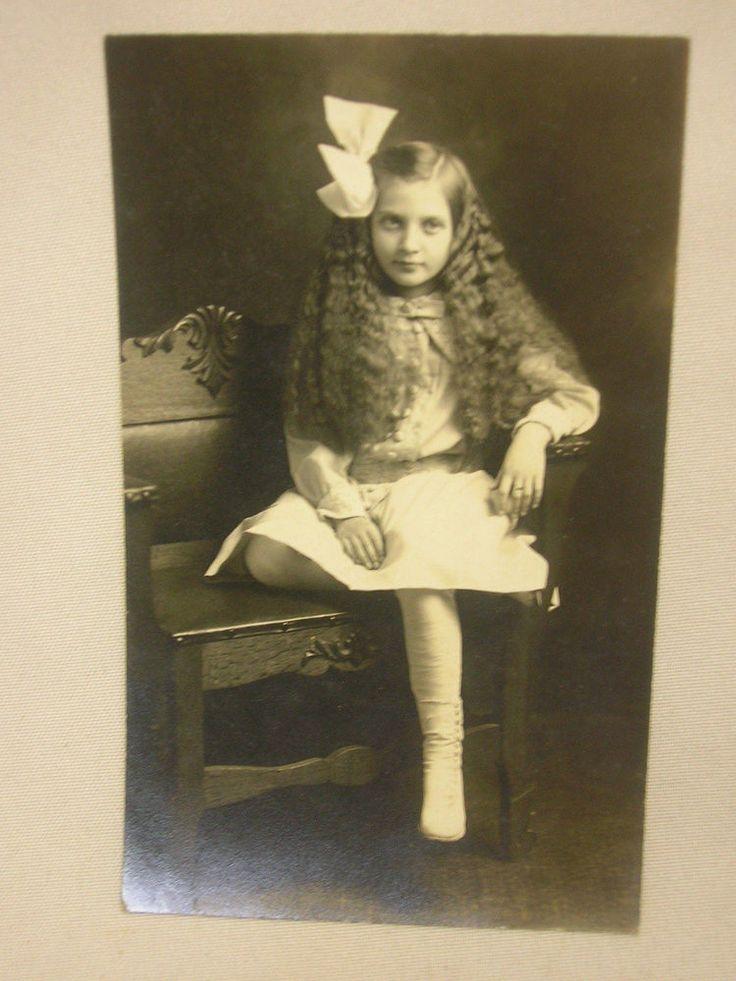 Vintage RPPC From Leiter Studio Lorain Ohio Real Photo Postcard Girl Fashion