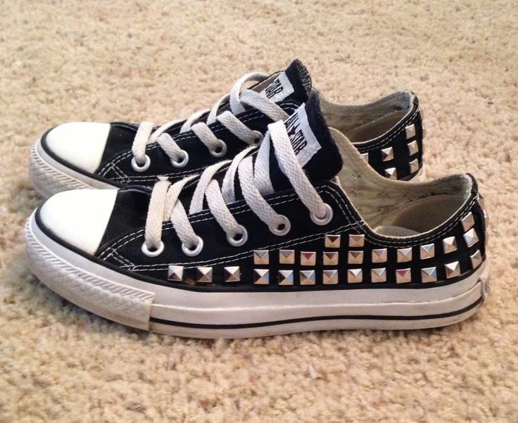 Studded Converse. Totally would've worn these in high school....and would still wear 'em!