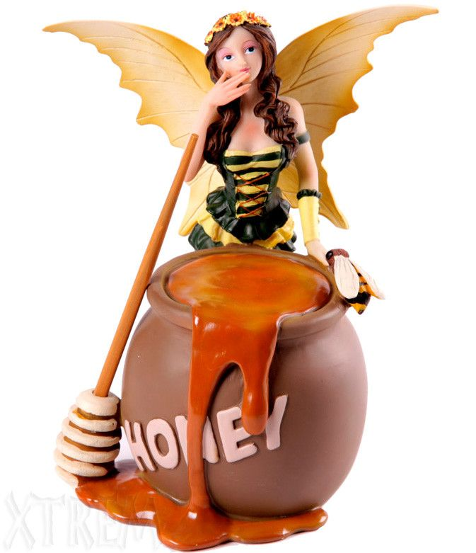 Hada con Tarro de Miel #fairy #fantasia #fantasy #figura #figurine #gothic #gotico #regalo #xtremonline