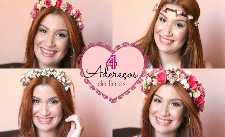 Como fazer 4 coroas de flores em casa! Por Bianca Andrade.