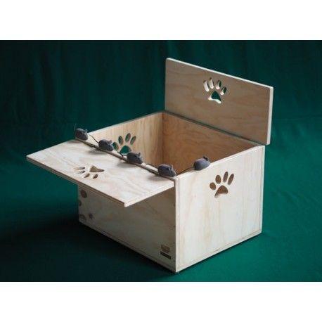 Kartù, casettacuccia oppure piccolo armadio per gatti, made in Italy - Blitzen