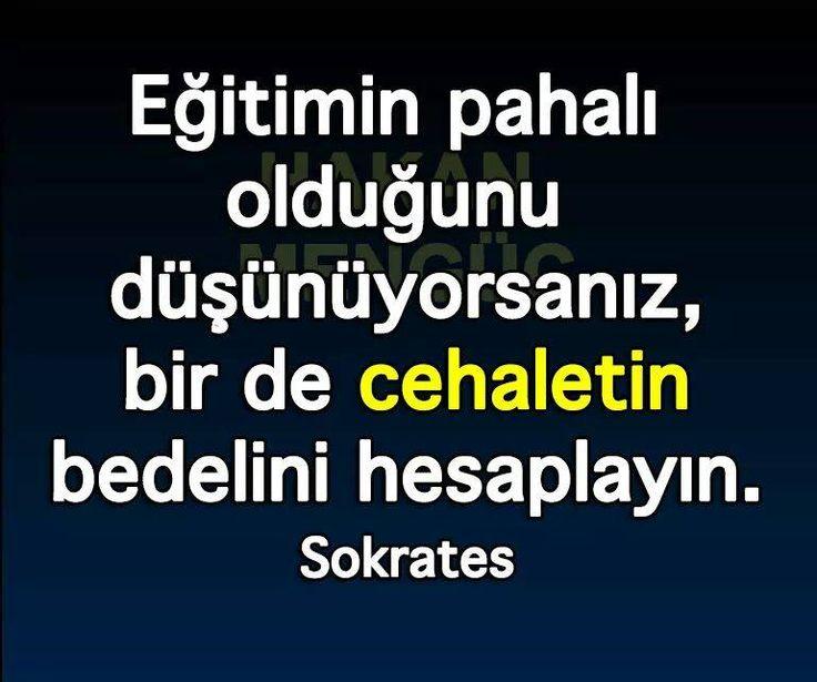 ✔Təhsilin bahalı olduğunu düşünürsünüzsə, bir də cəhalətin qiymətini hesablayın. #Sokrates