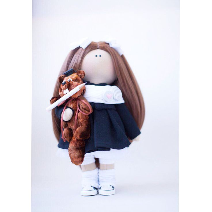Бобер с карандашом - это не просто так, это- логотип школы! #dolls #school #кукларучнойработы #куклатекстильная