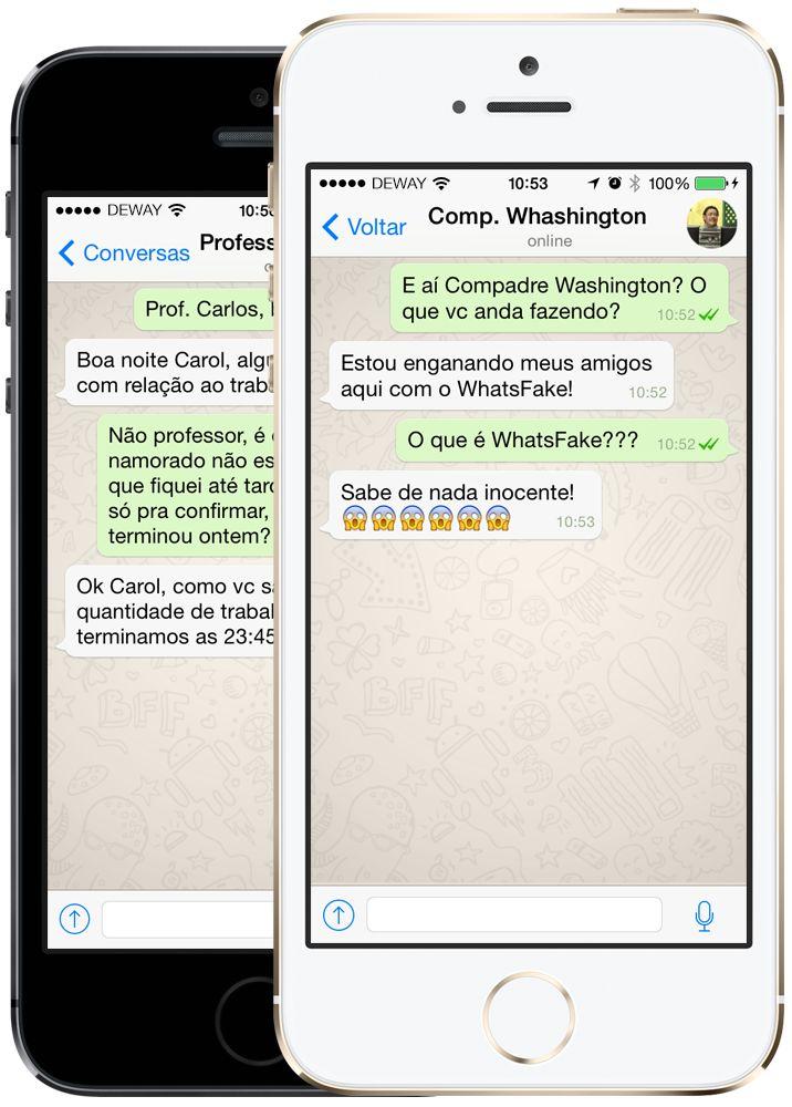 WhatsFake Make fake conversations just like WhatsApp