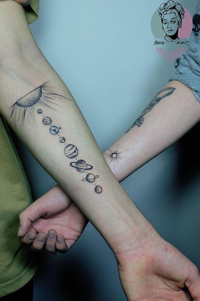 best 25 planet tattoos ideas on pinterest