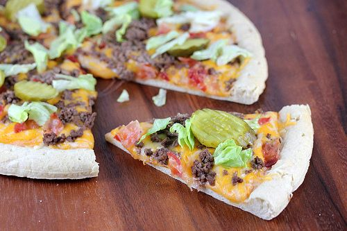 Big Mac Pizza At first I thought this was a silly idea and was about to delete the post but then decided to try it one time.  If anyone does make this pizza, please leave a comment below to let us know if you liked it. Diane