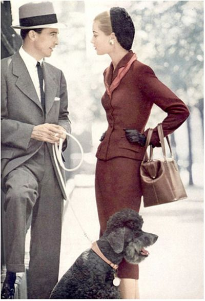 Men's and women's fashion, Vogue, 1952