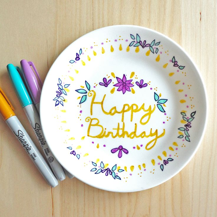 Decorate A Plate With Sharpies And Bake It Diy Craft