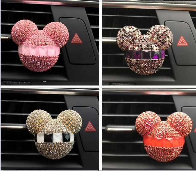 car styling bling crystal car perfume, car air freshener, 100 original women perfume air conditioning vent flavouring in the car