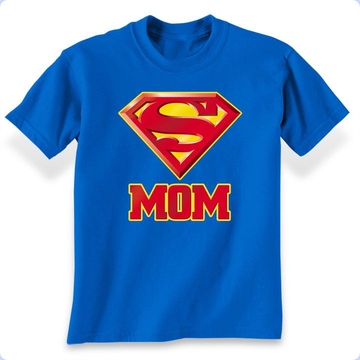 This Superman Super Mom T-Shirt makes a great gift for Mom whether on her birthday or Mother's Day. Get her this shirt to show her how much you admire her as your Mom, the real superhero in your life.