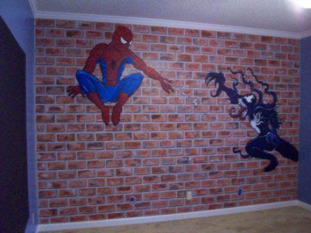 decorating boys bedroom spiderman style - Brick Kids Room Decor