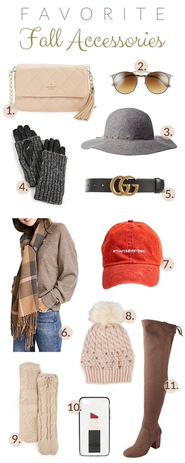 My 11 Favorite Fall Accessories! Totally obsessed with that felt hat! Oh and the plaid scarf too!   #fallaccessories #fallmusthaves #fallfashion