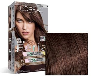My favorite hair color. Loreal FÉRIA  45 French Roast Deep Bronzed Brown