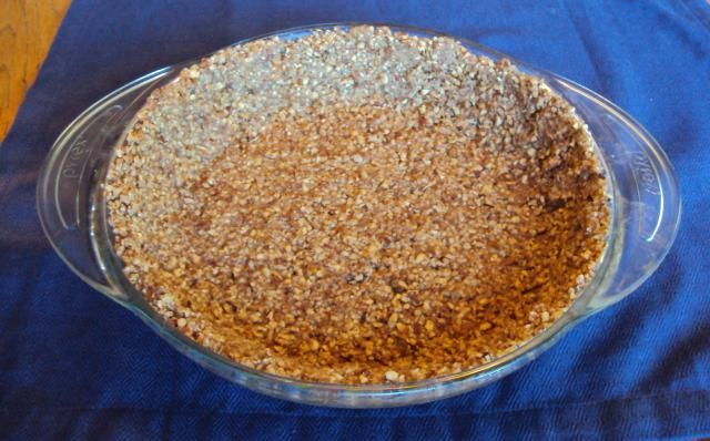 Cut the Carbs from Dessert with This Pecan Nut Pie Crust: Pecan Pie Crust, Ready to be Filled. Maybe I'll use coconut oil instead of butter and coconut butter instead of sugar.