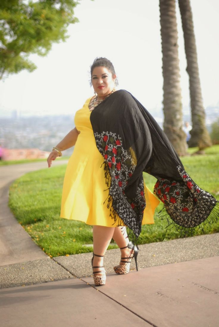 "|New Blog Post| Fashion With A Dose of ""Cultura Mexicana!"" (Outfit Of The Day)  Bright yellow ""ABS"" Dress with my Mexican shawl.  I love my @Gwynnie Bee subscription!   #BBWGeneration #DiegosGallery #PlusSize #GwynnieBee #PSBloggers #LatinaBloggers #BlogsByLatinas #Fashion #Review #Fashionista #FATshionista #ABS #Culture #cultura #Mexican #Petite #BBW #Latina #Yellow #shawl #curves #Curvas #effyourbeautystandards #curvas"