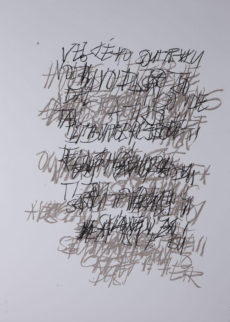 Michael Třeštík, Buffalo Dusk 1, 2016, pastel A1