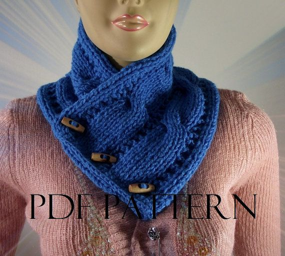 KNITTING PATTERN COWL Scarf  Linda Cowl with by LiliaCraftParty