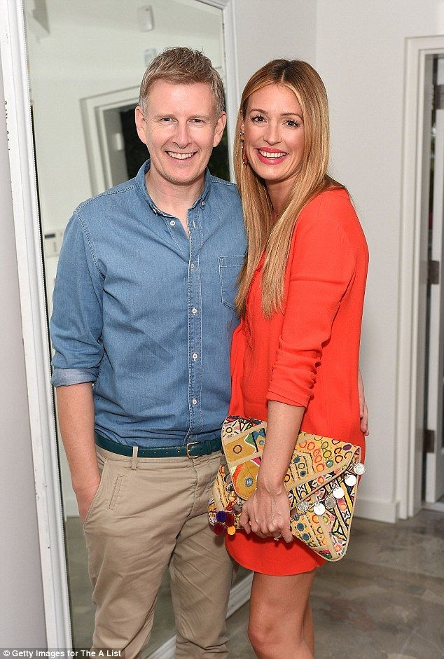 Pregnant: Cat Deeley (right, here on Tuesday) and Patrick Kielty (left) have announced tha...