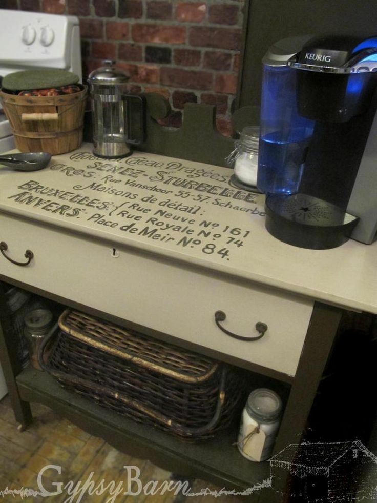 Coffee Stations From Re Purposed Dressers