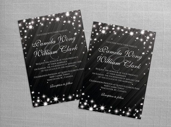 DIY Printable Wedding Invitation Card Template  Editable MS