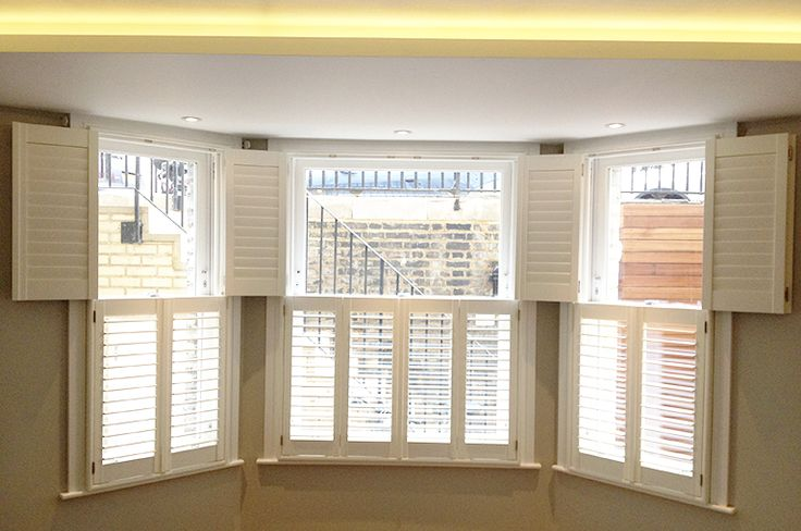 78 Best Bay Window Shutters Images On Pinterest Indoor Shutters Blinds And Interior Shutters