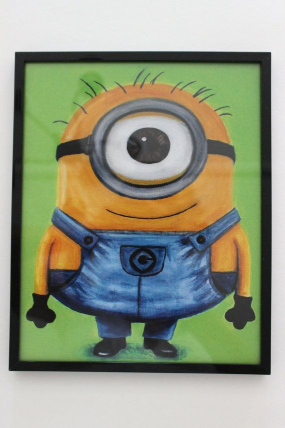 Despicable me painting print, perfect for a gift search frontporchpainting on etsy.com