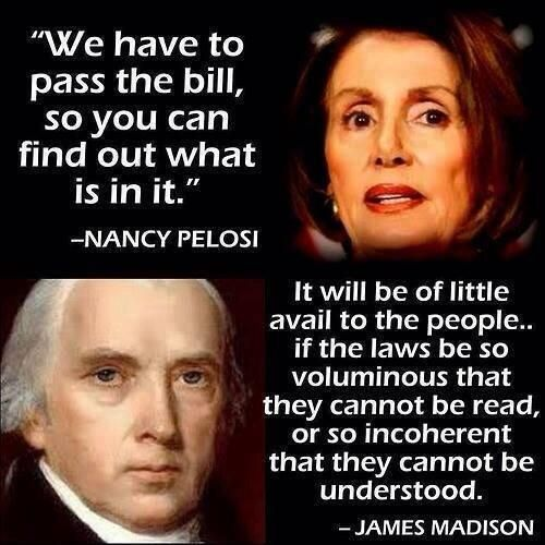 .Laws so voluminous they cannot be read, or so incoherent that they cannot be understood, James Madison..The Convention of States Project is the safe and constitutional way to reclaim our beloved country. I encourage you to learn more and get involved: http://www.cosaction.com/?recruiter_id=1113502