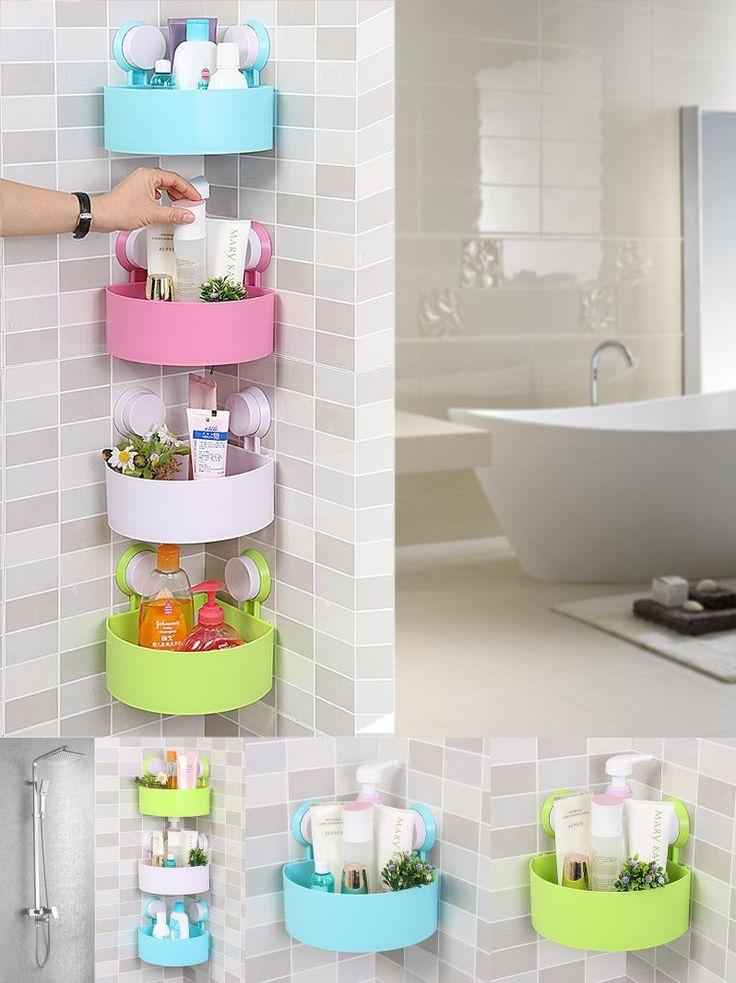 visit to buy qubabobo wall mounted corner storage basket kitchen bathroom holder kitchen shelves