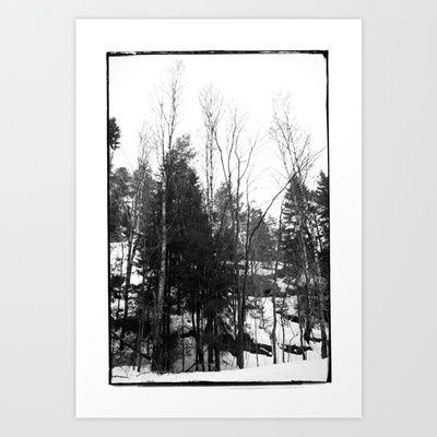 Norwegian forest VII Art Print by Plasmodi - $17.00